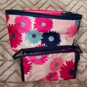 Handbags - 2pc. Travel Size Flower Bag